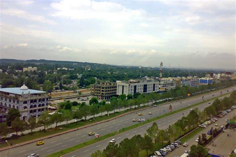 blue area view of blue area from jinnah avenue in islamabad