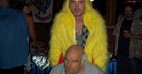 breaking bad jesse house party music bryan cranston and aaron paul dressed as hector quot don quot salamanca and the los pollos