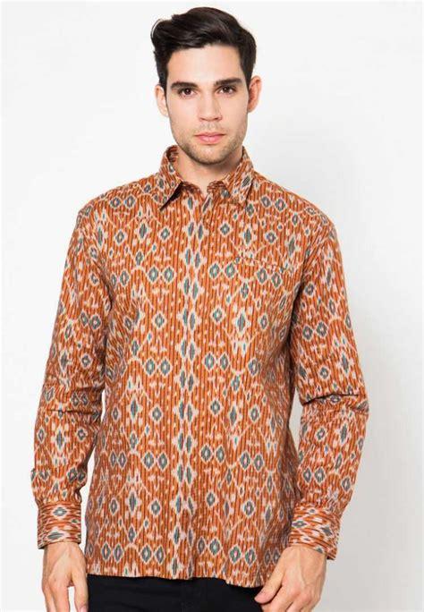 Baju Lengan Panjang Untuk Pria baju batik pria lengan panjang modern model baju batik