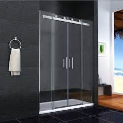 Contemporary portable shower stall with sliding door