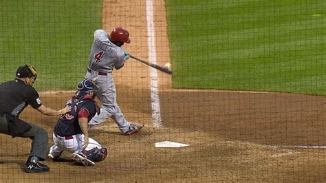 brandon phillips swing phillips hits the ball twice with one swing baseball bite