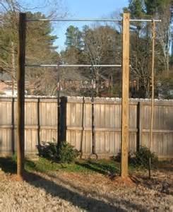 backyard pull up station back yard pull up dip station diy crossfit pinterest