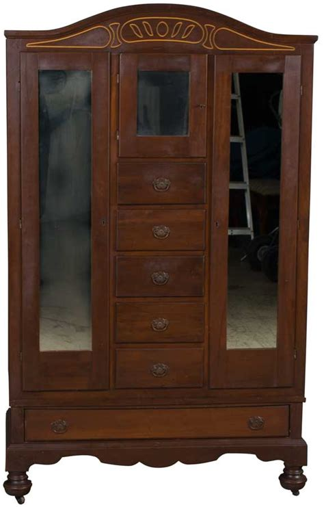 Antique Armoires Wardrobes - vintage antique style mahogany chifferobe chifforobe