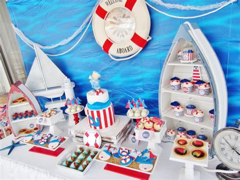 nautical baby shower theme decorations it s a boy nautical baby shower baby shower ideas