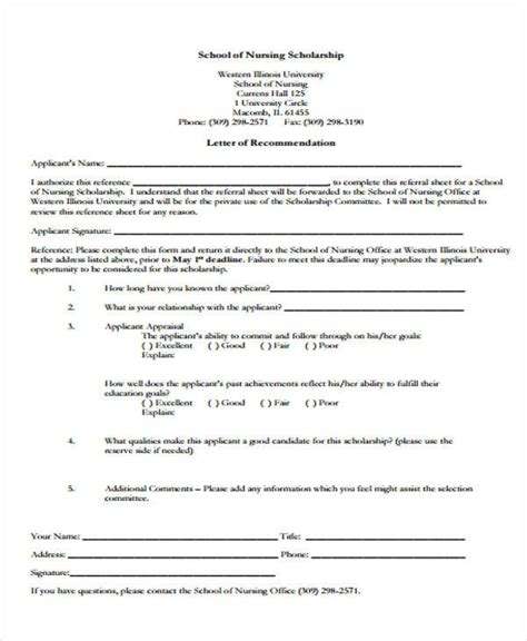 Letter Of Recommendation For Conference Scholarship 10 Recommendation Letters For Scholarship Free Sle Exle Format