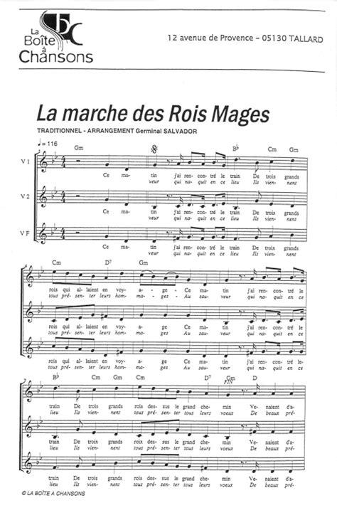 chant de noel la marche des rois mages
