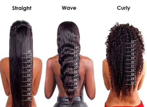 what does an 16inch length halo look like on a woman nuhare length measurement chart length chart pinterest