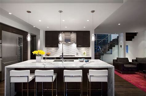 Contemporary Kitchen Island Ideas Modern Kitchen Remodeling With Island As Dining Table