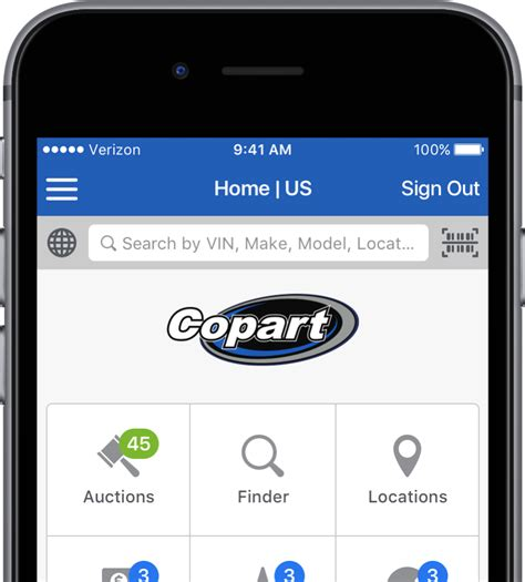 salvage cars for sale copart mobile app car