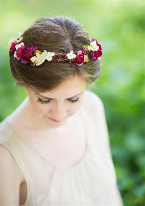Wedding Hair Accessories Burgundy by Rustic Wedding Bridal Hair Accessory Floral Headpiece