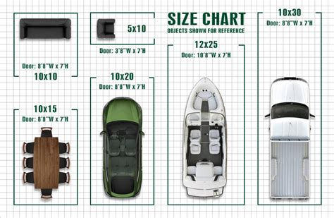 Garage Size Chart by Garage Size Chart Storage Sizes Safe And Secure Self