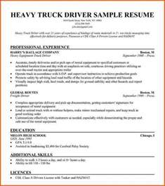 commercial truck driver resume sle commercial truck driver resume sle jennywashere