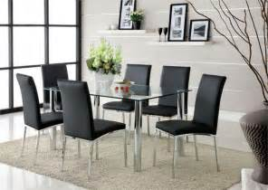 modern kitchen furniture sets dining room square glass dining table modern