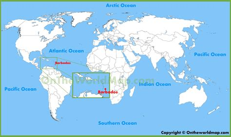 where is barbados on world map barbados location on the world map