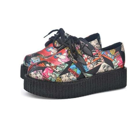 colorful flats shoes 2017 graffiti colorful new participants in creepers