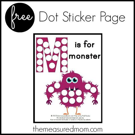 printable dot stickers dot sticker page letter m printable mom dots and stickers