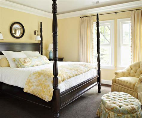 bedroom decorating ideas  yellow color home