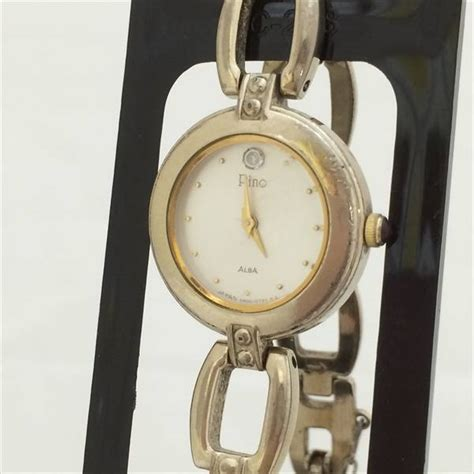 Alba As9d35x1 White Stainless Steel alba alba pino pino fashion quartz white stainless steel ss quartz s used watches