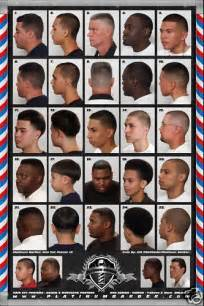 hair cut types for numbers barber shop posters charts 20 99 picclick
