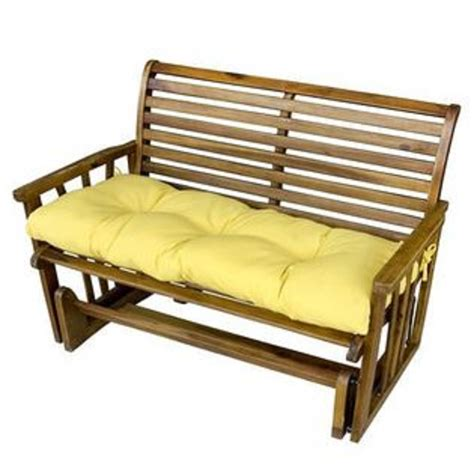 outdoor bench cushions greendale home fashions 46 in outdoor swing bench cushion sunbeam outdoor living