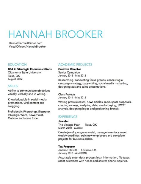 Simple Resumes by Simple Resume Design Idea Resume Design