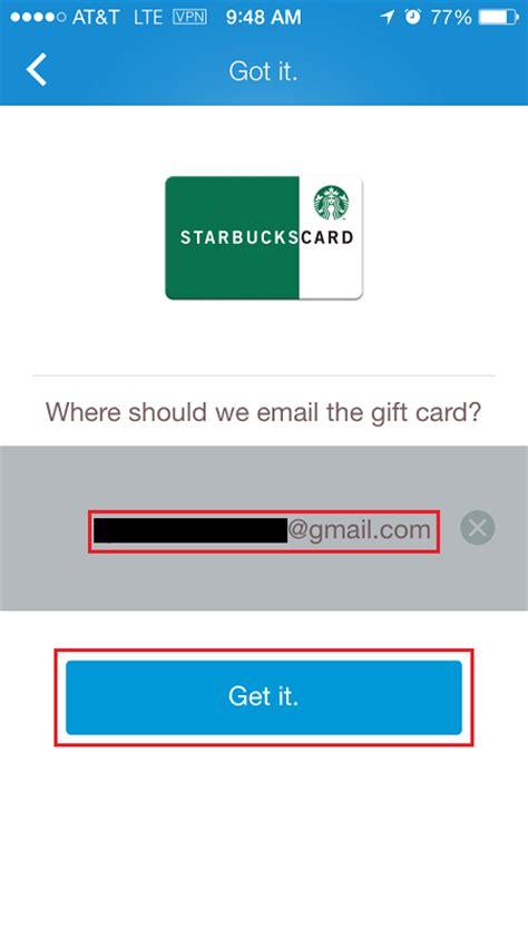 Starbucks Gift Card By Email - how to redeem shopkick kicks for a gift card