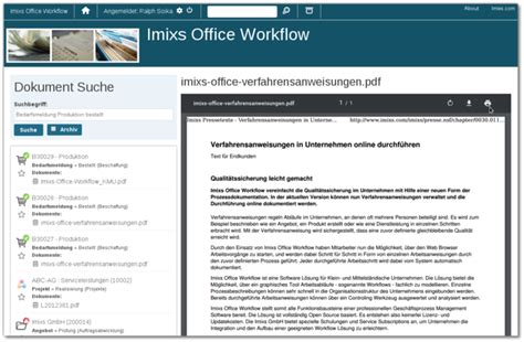 dms workflow imixs office workflow software f 252 r