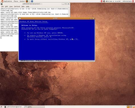 install windows 10 qemu installing windows xp as a kvm guest on ubuntu 8 10 desktop