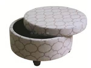 how to make a round ottoman with storage coaster 500059 round gray storage ottoman