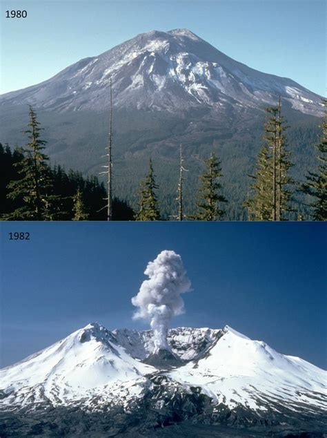 mount st helens other volcanoes picas mount st helens volcano before and after eruption
