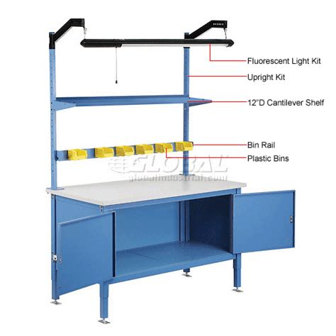 plastic work bench cabinet work benches heavy duty 60 x 30 security