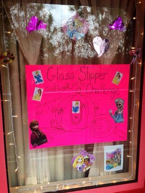 alannacolleen we are decorating our window princess glass slipper challenge disney
