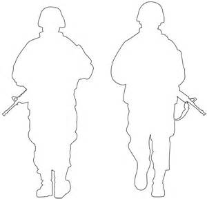 Soldier Drawing Outline by Army Soldiers Silhouette Free Vector Silhouettes