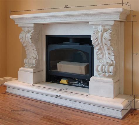 Fireplace Mantel Proportions by Fireplace Mantel 05 With Dimensions Limestone