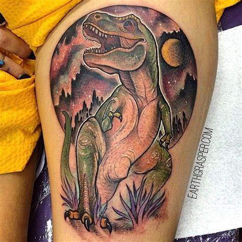 t rex tattoo 12 terrific dinosaur tattoos tattoodo