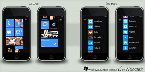 mobile themes iphone windows 7 mobile theme realese by woocash kun on deviantart