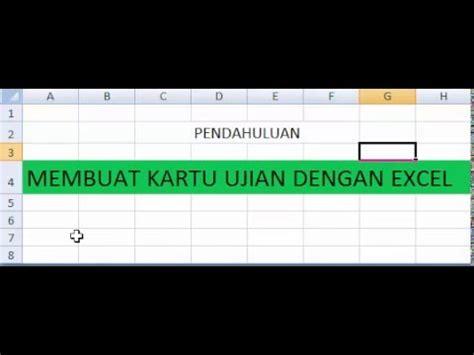 tutorial excel indonesia bagian 5 tutorial membuat kartu ujian dengan excel vlookup bagian