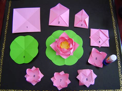 Paper Folding Lotus - a story of paper lotus flowers photos falun