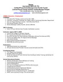 physical therapy resume exles physical therapy technician resume sle