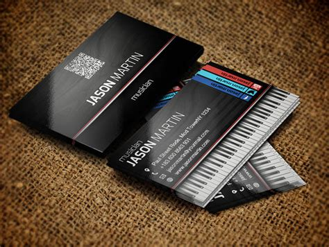 business card template musician 25 free psd business card template designs designmaz