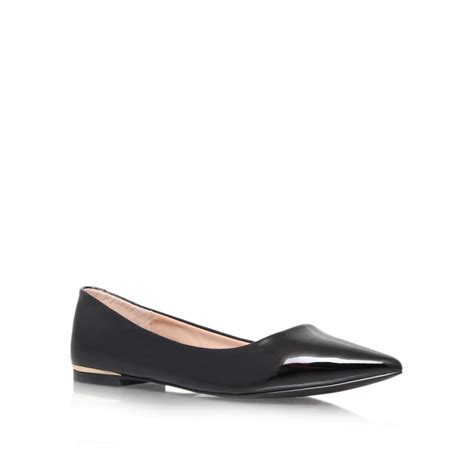 black flat court shoes carvela kurt geiger minnie flat court shoes in black lyst