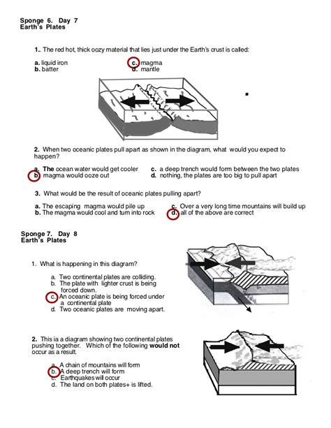 Plate Boundaries Worksheet Answers by Plate Tectonics Worksheet Answers Lesupercoin Printables