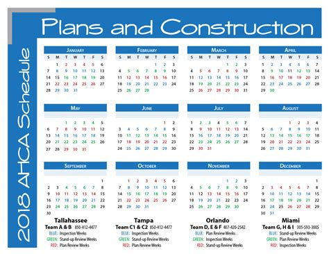 Peru Calend 2018 Ahca Plans And Construction 2018 Schedule Calendar