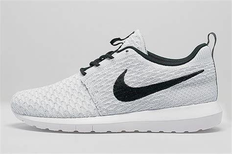 Nike Roshe Run Black White nike roshe run flyknit white graysands co uk
