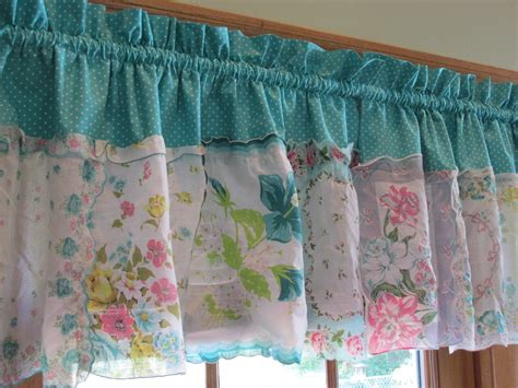 handkerchief curtains french country timeless teal tapestry handkerchief valance