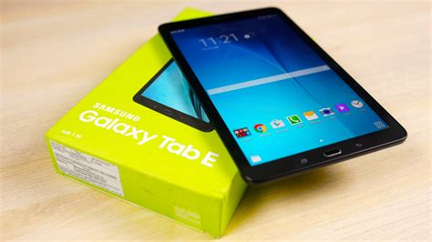 Tablet Samsung Tab E galaxy tab e unboxing on