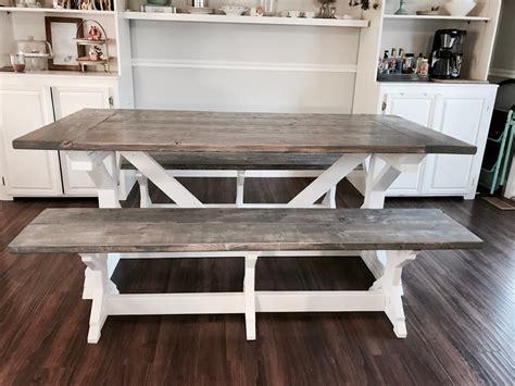 ana white  tone weathered gray  farmhouse table
