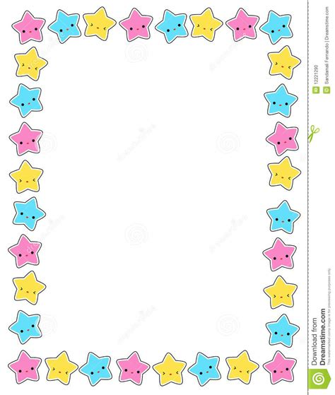 printable star frames star stars border stock photo image 12221290 first