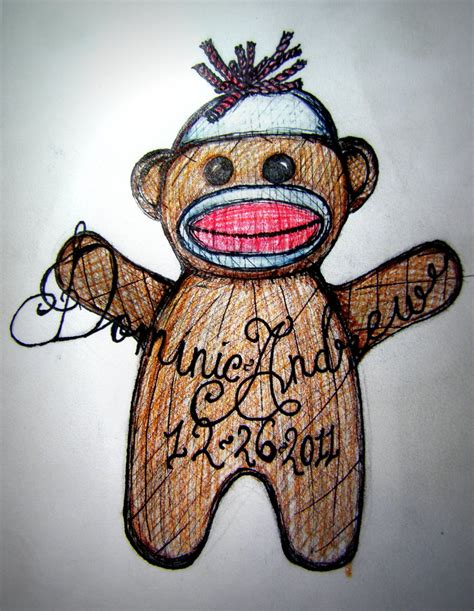sock tattoo designs sock monkey finished by creativityftcorrupt on
