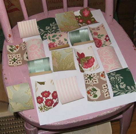 decoupage using wallpaper another vintage wallpaper decoupage post mitzi s miscellany